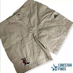 Adidas Khaki Louisville Cardinals Shorts Sz 34 Z9